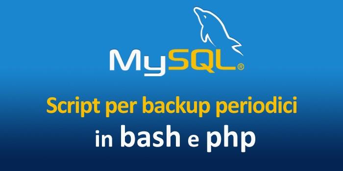 how to take backup of mysql database in linux