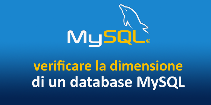 Come verificare la dimensione di un database MySQL in Linux