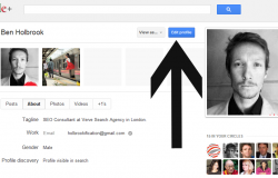 rel author in google plus